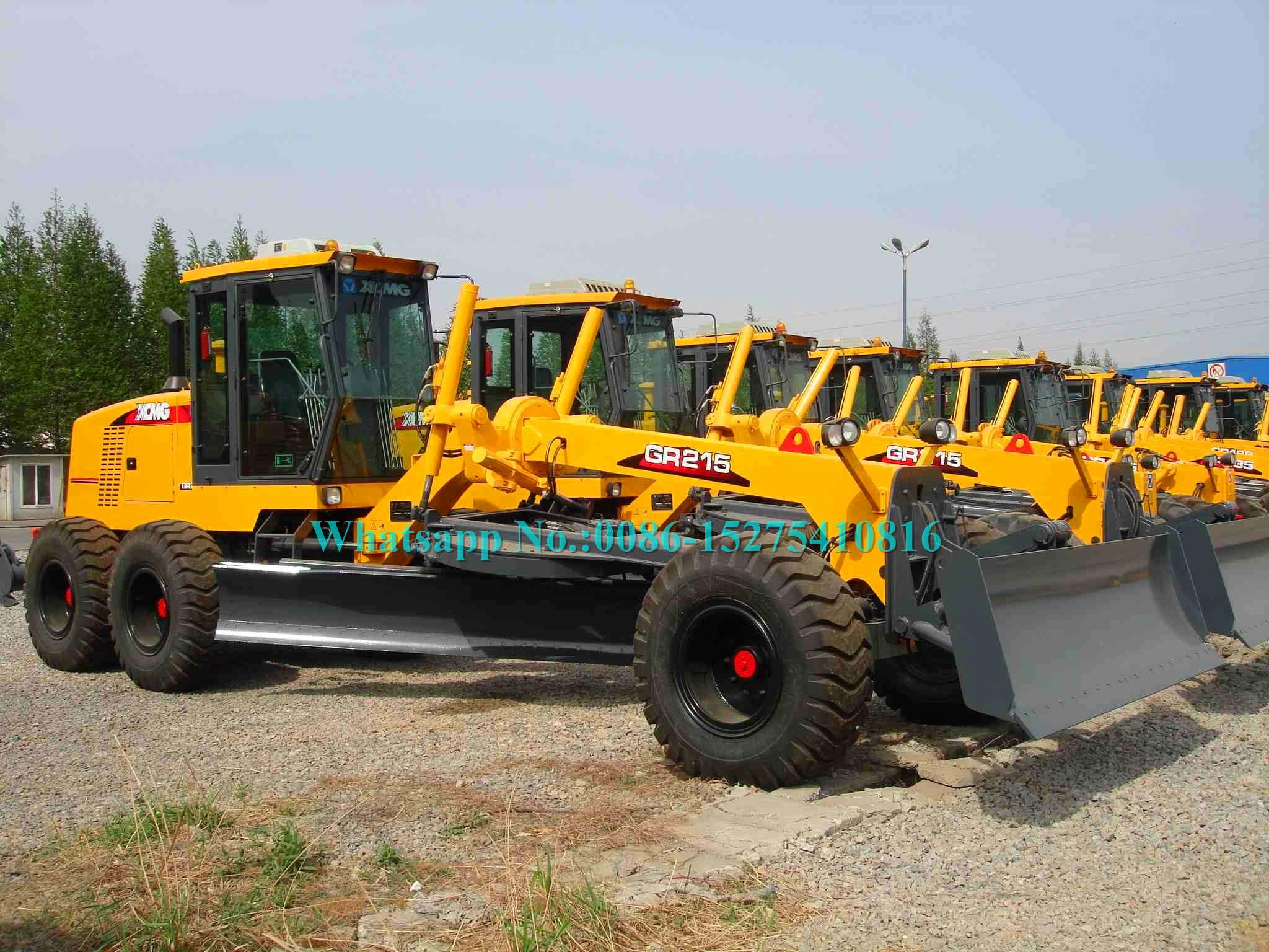 Máy xây dựng đường màu vàng XCMG GR215 GR2153 Máy phân loại động cơ