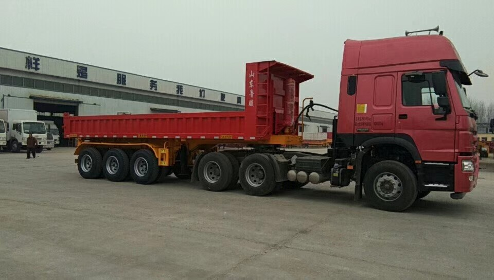 45 Ton Heavy Duty Semi Trailers With 8.0-20 Tires And 8000kg Tare Weight