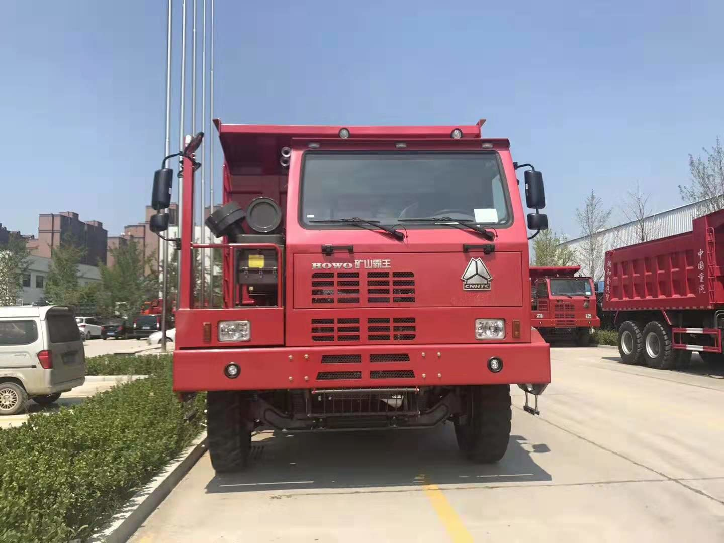 Red Color Heavy Mining Dump Truck 6*4 / Manual Transmission Type 30 Tons Tipper Truck